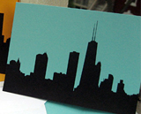 chicago skyline notecards