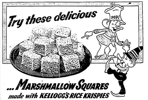 Rice Krispies Vintage Newspaper Ad