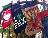 Christmas stockings made from favorite t-shirts