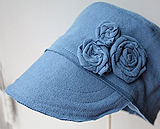 Hat fashioned from an old t-shirt