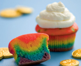 Rainbow Cupcakes | St. Patrick's Day crafts