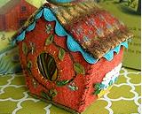 craft; Betz White felted birdhouse online workshop
