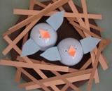 craft; baby bluebirds in nest