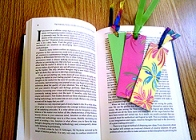 Pretty bookmarks made from note cards