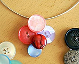 Necklace pendant made from buttons
