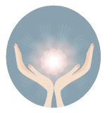 reiki hands illustration