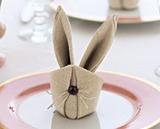 napkin origami; bunny