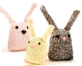 Mini knitted stuffed bunnies