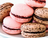 raspberry and chocolate macarons by Food & Wine magazine