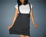 Jumper-type skirt re-fashioned from t-shirt