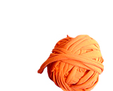 Yarn for knitting or crochet created from t-shirt strips