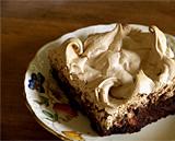 Brown sugar meringue capped brownie