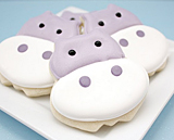 Hippo frosted sugar cookies