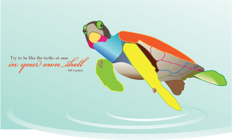 Illustrated sea turtle image