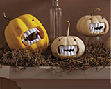 Gourds with vampire teeth