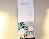 2012 calendar pages with floral designs