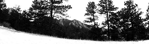 View of Green Mountain from North Fork Shanahan Trail