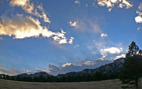 South Boulder Peak from North Fork Shanahan Trail